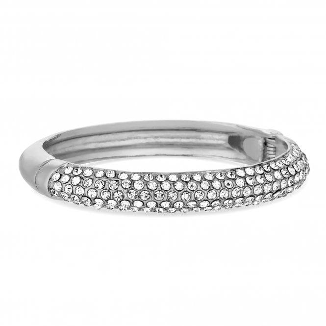Silver Crystal Embellished Bangle
