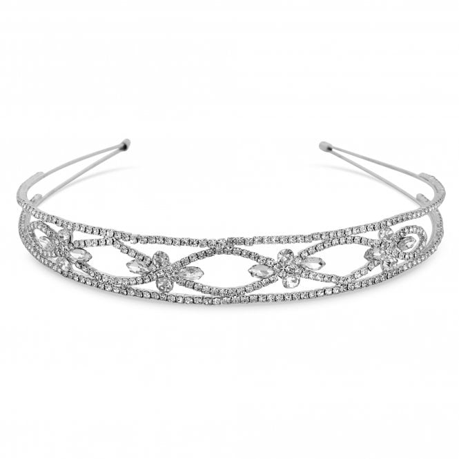 Silver Crystal Open Headband