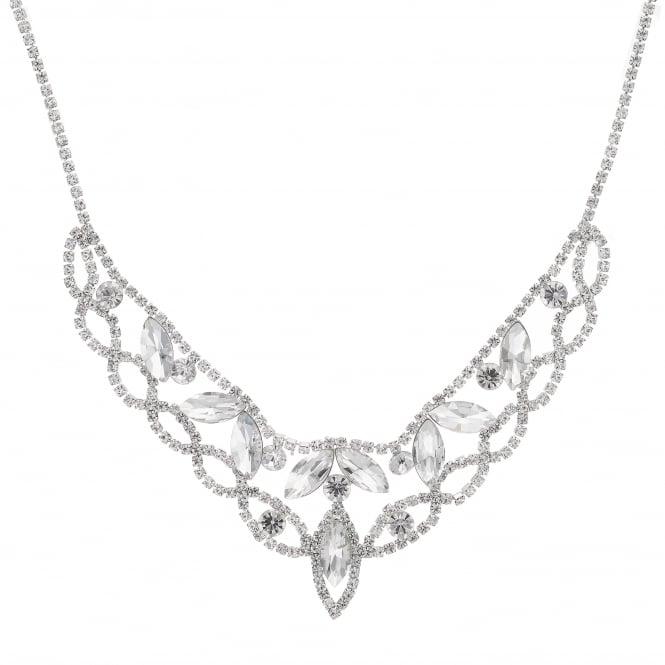 Silver Diamante Collar Necklace