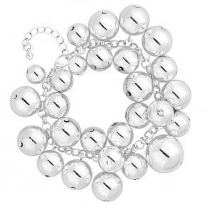 MOOD By Jon Richard Silver Orb Cluster Statement Bracelet