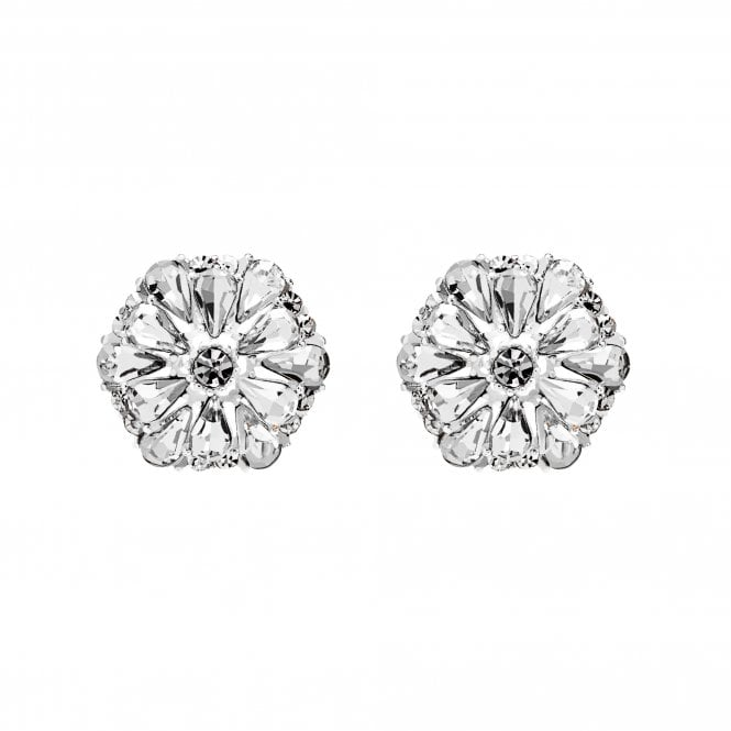 Image of Silver Plated Floral Stud Earrings