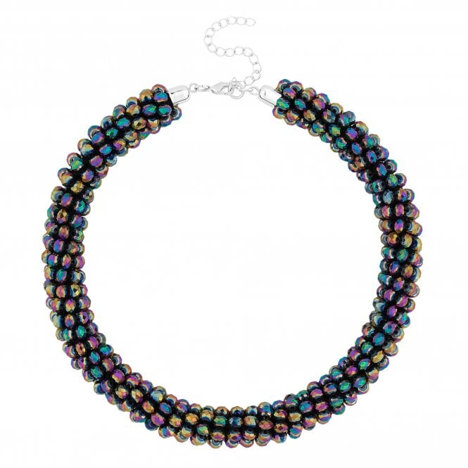 Multi Colour Beaded Collar Necklace