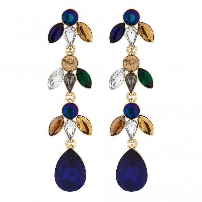 Multi Colour Crystal Baroque Drop Earring