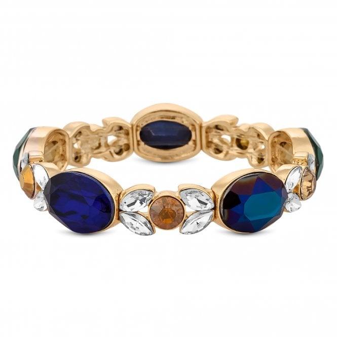 Multi Colour Crystal Baroque Stretch Bracelet