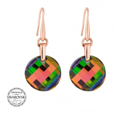 Multi colour disc earring MADE WITH SWAROVSKI CRYSTALS