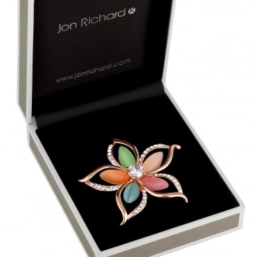 Multi colour flower brooch