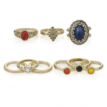 Multi colour ring set