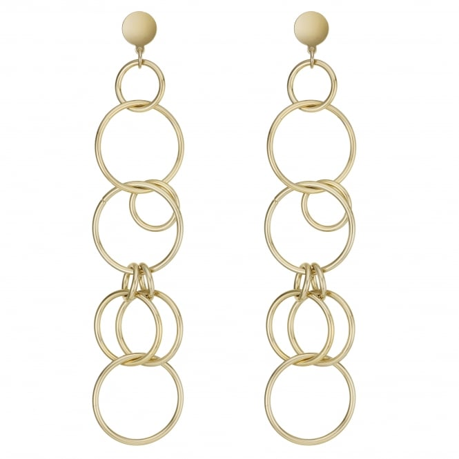 Gold Multi Hoop Drop Earring