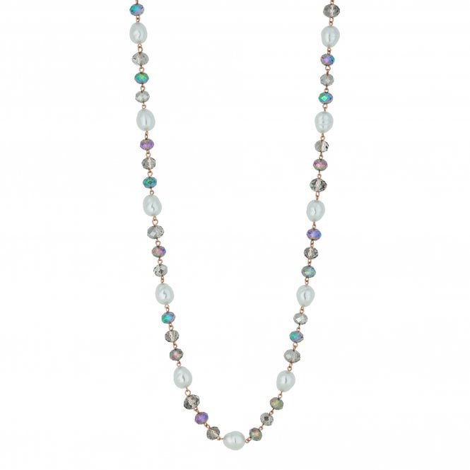 Organic Pearl And Bead Long Necklace