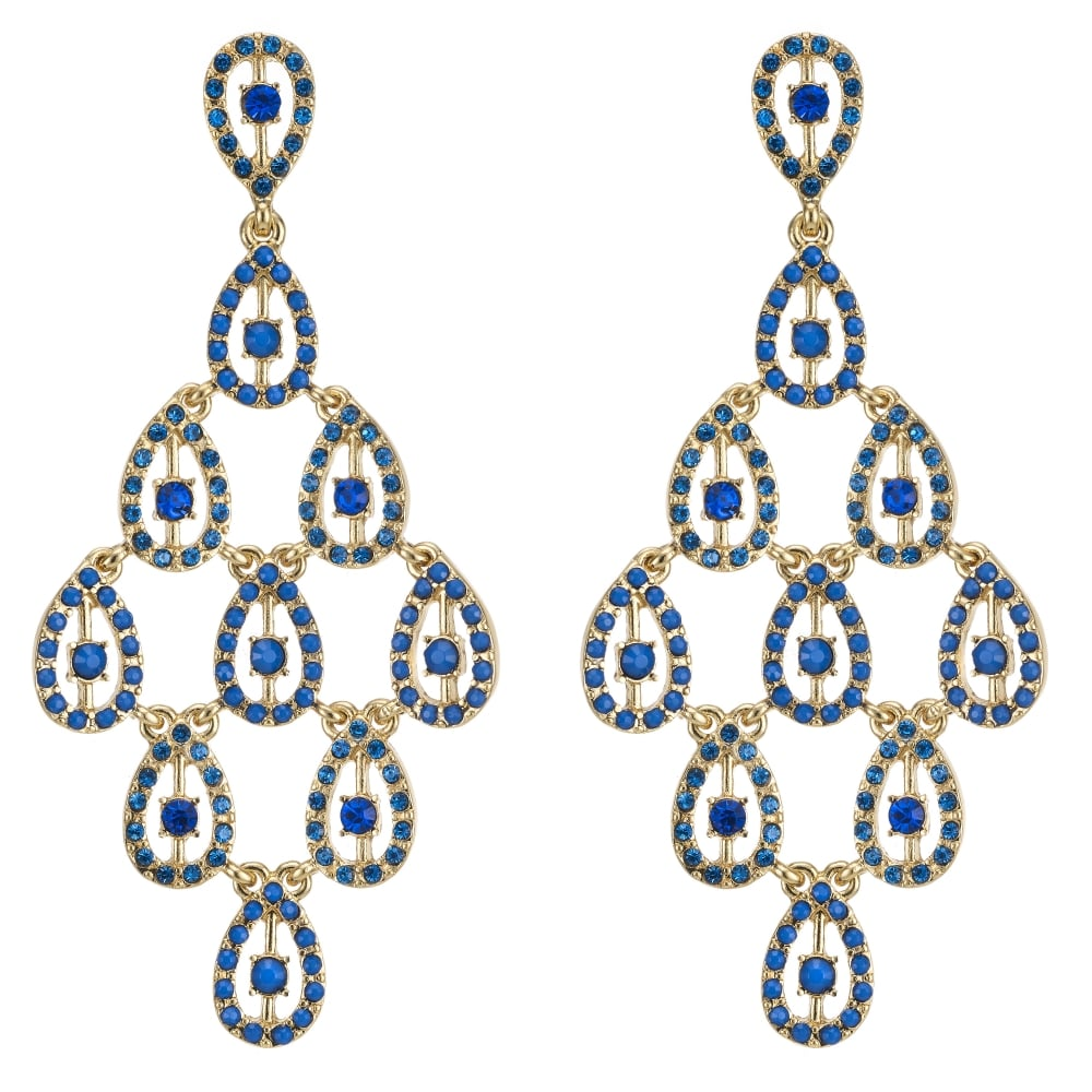 MOOD By Jon Richard Oversized chandelier earring – Oversized Chandelier Earrings