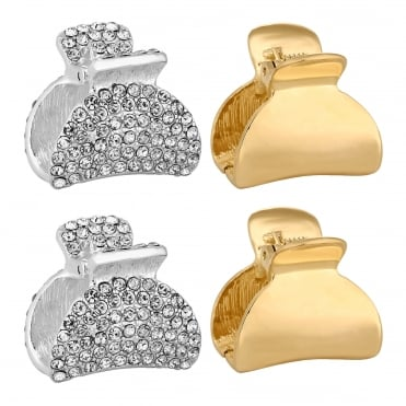 Pave hair clamp set