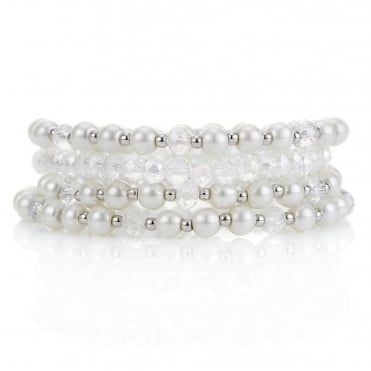 Pearl and bead bracelet pack