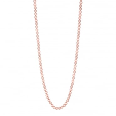 Pink long pearl necklace