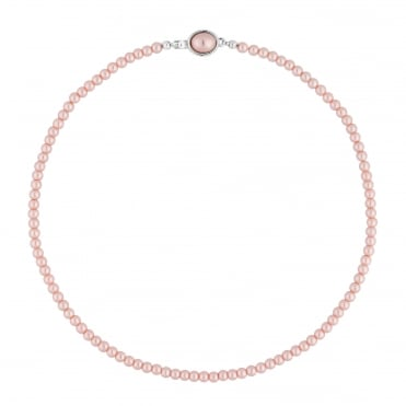 Pink pearl clasp necklace