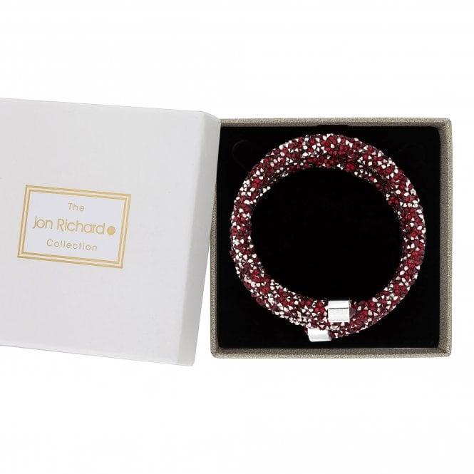 Red Crystal Cluster Coil Bracelet
