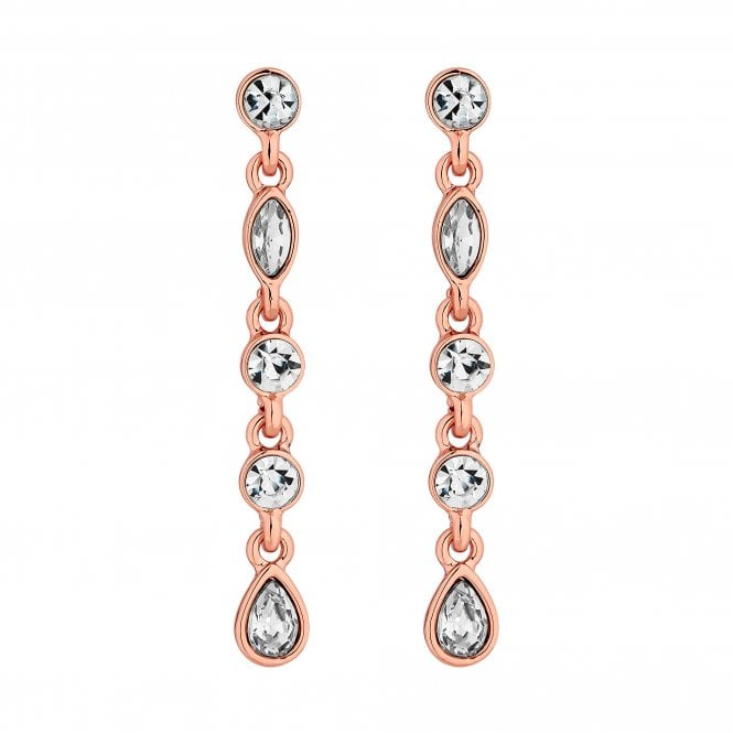 Rose Gold Crystal Drop Earring