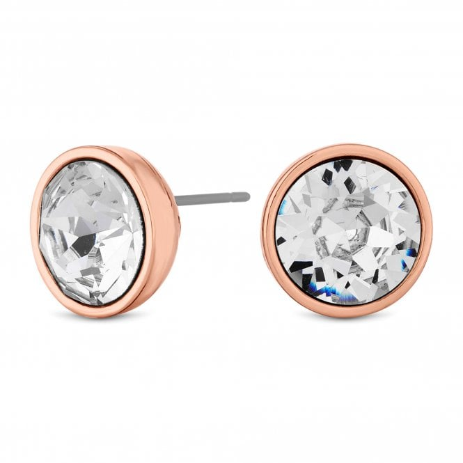 Rose Gold Crystal Stud Earring Embellished With Swarovski Crystals