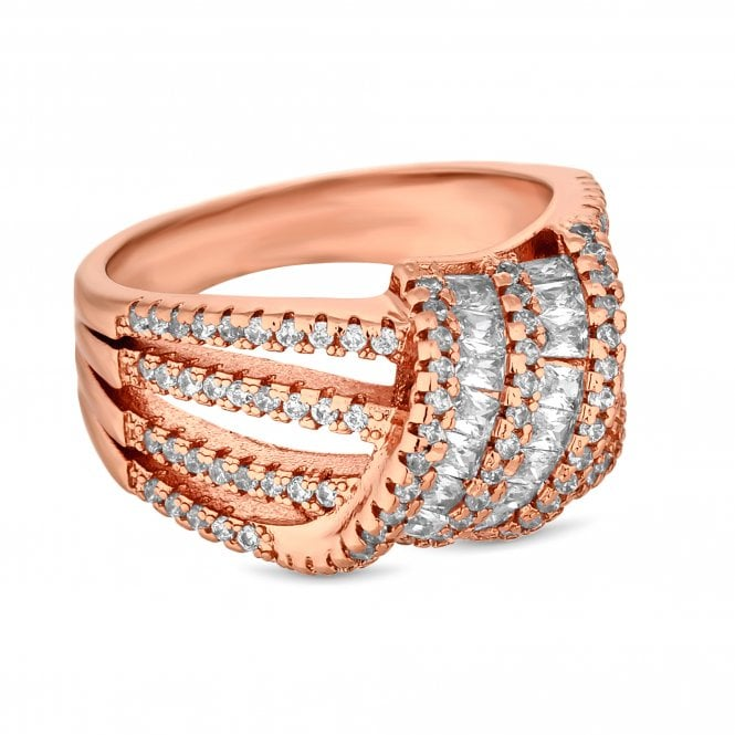 Rose Gold Cubic Zirconia Knot Ring