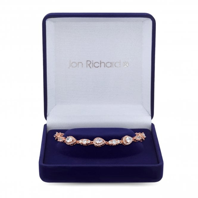 Rose Gold Cubic Zirconia Statement Bracelet