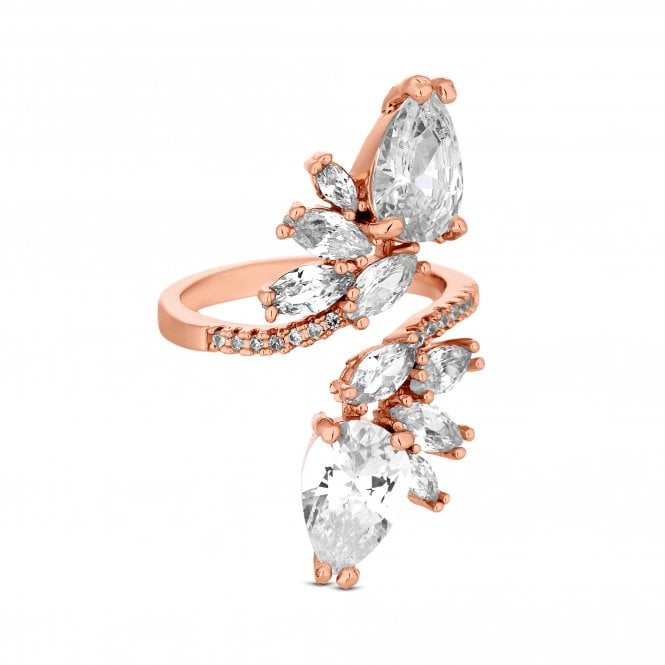 Rose Gold Cubic Zirconia Twist Ring