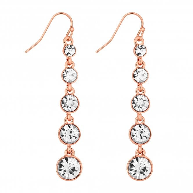 Rose Gold Graduated Crystal Drop Earring