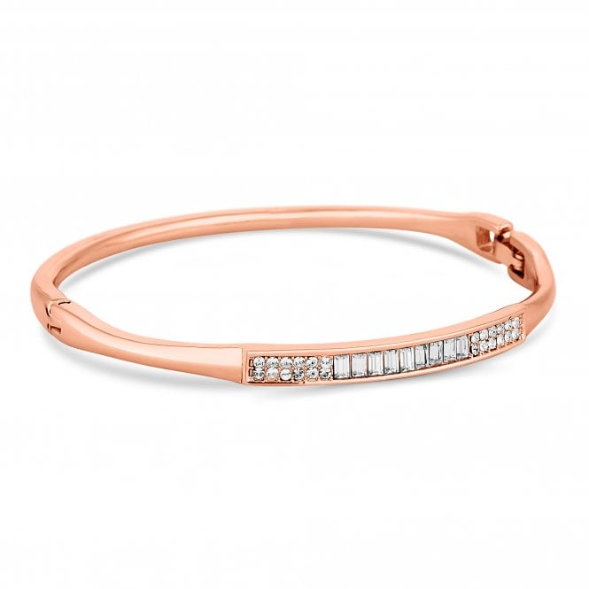 Rose Gold Pave Crystal Bangle Embellished With Swarovski Crystals