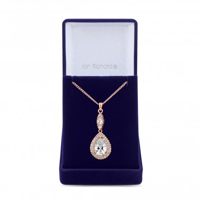 Rose Gold Peardrop Pendant Necklace