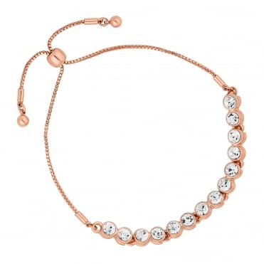 Rose gold toggle tennis bracelet