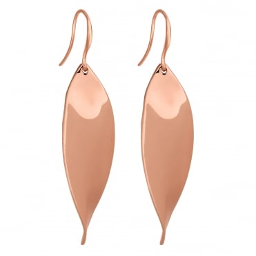 Rose gold twist earring