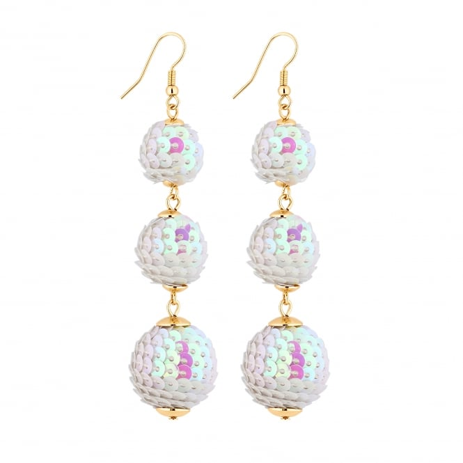 Sequin orb drop earring