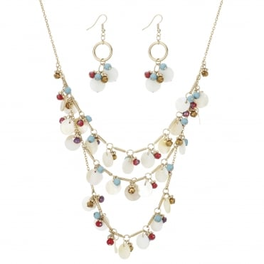 Shell charm jewellery set