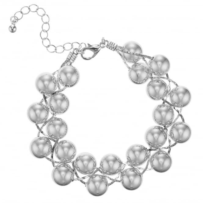 Silver Ball Twist Bracelet
