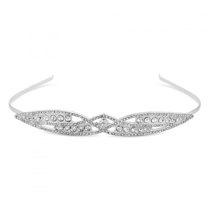 Silver Crystal Embellished Tiara