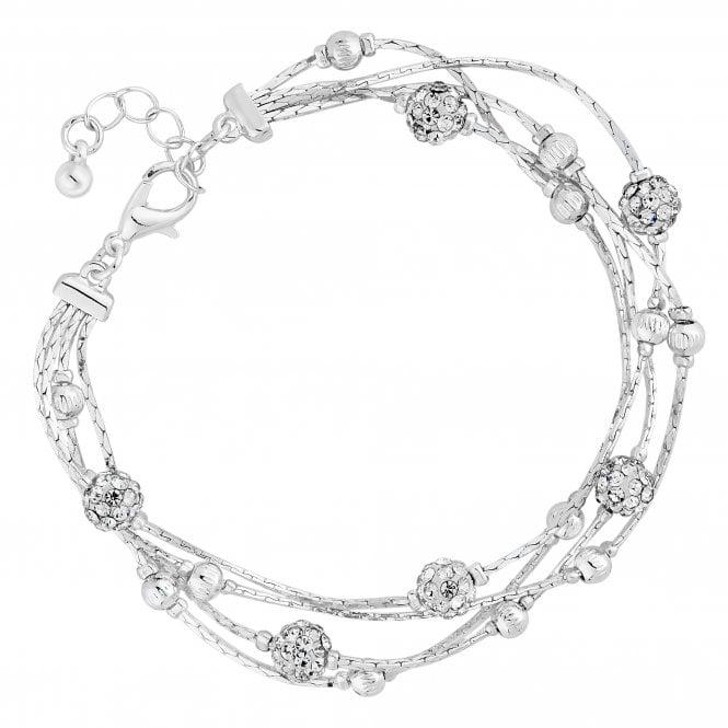 Silver Crystal Orb Bracelet
