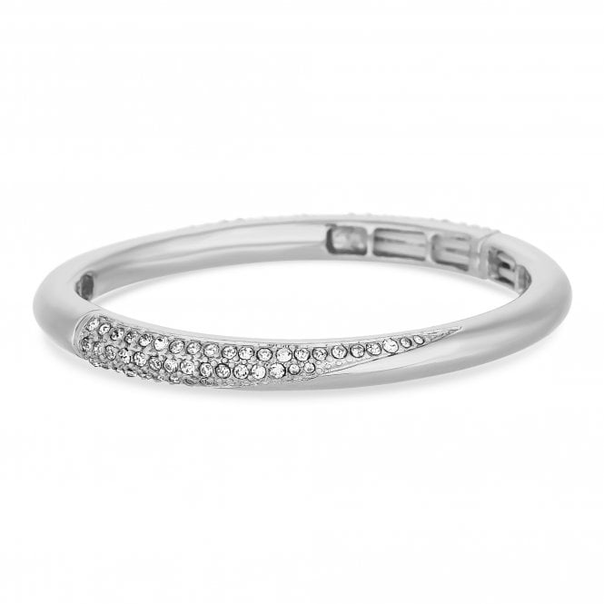 Silver Crystal Pave Bangle
