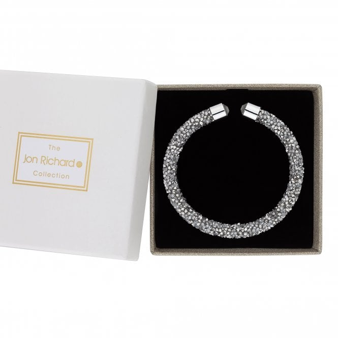 Silver Crystal Sparkle Bangle In A Gift Box