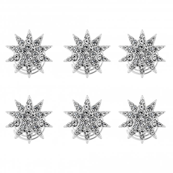 Silver Crystal Star Hair Twisties