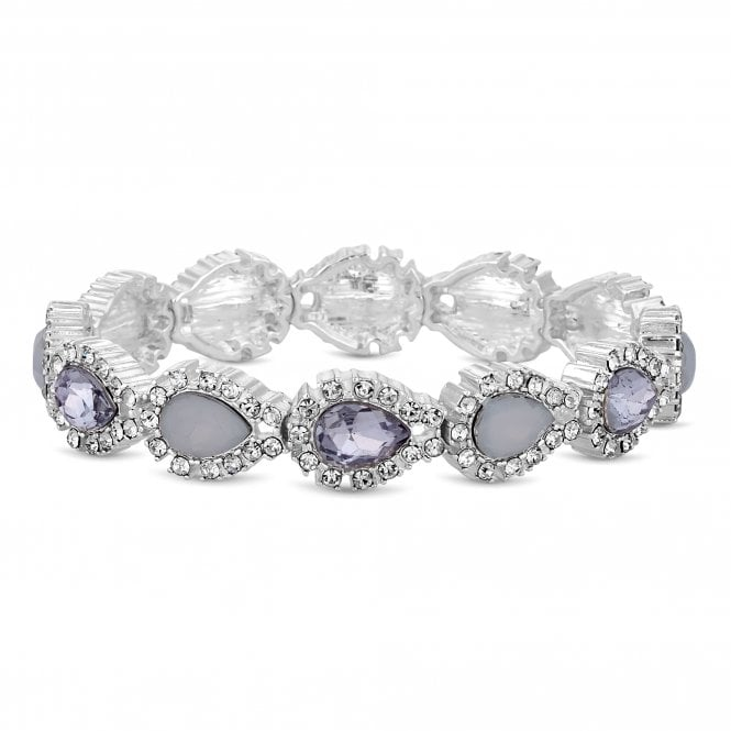 Silver Crystal Stretch Bracelet
