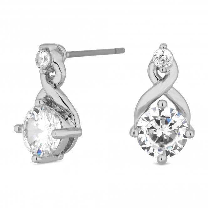 Silver Cubic Zirconia Infinity Mini Stud Earring