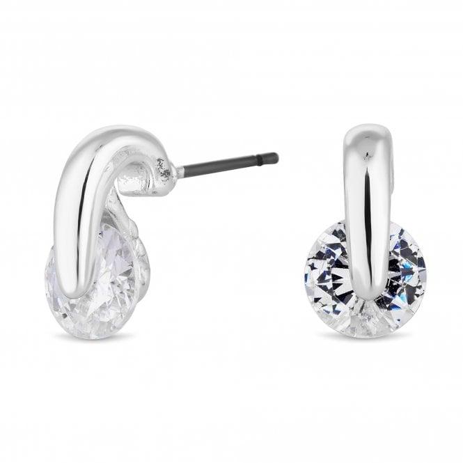 Silver Cubic Zirconia Mini Stud Earring