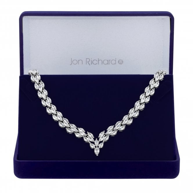 Silver Cubic Zirconia Statement Necklace
