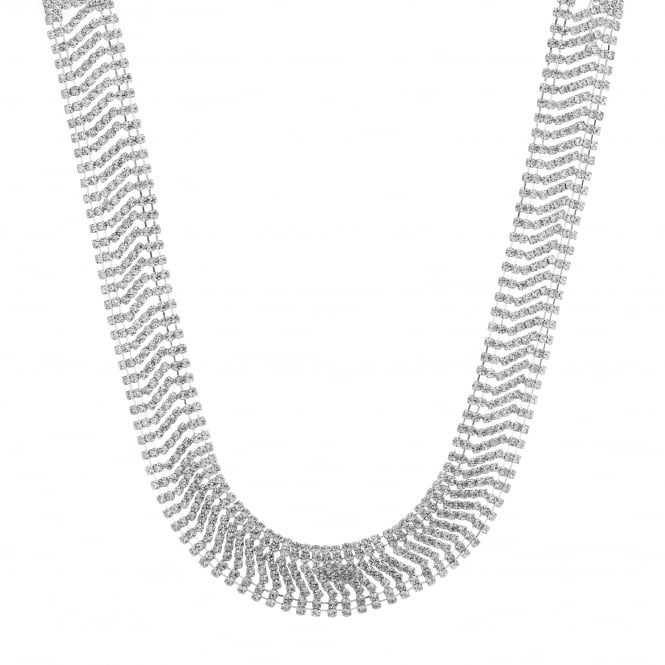 MOOD By Jon Richard Silver diamante collar necklace