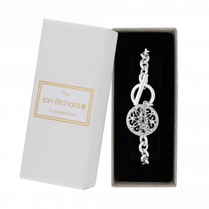 Silver Filigree Charm Bracelet