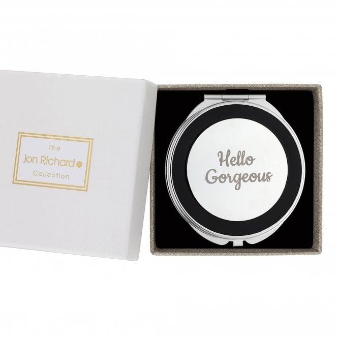 Silver Hello Gorgeous Compact Mirror