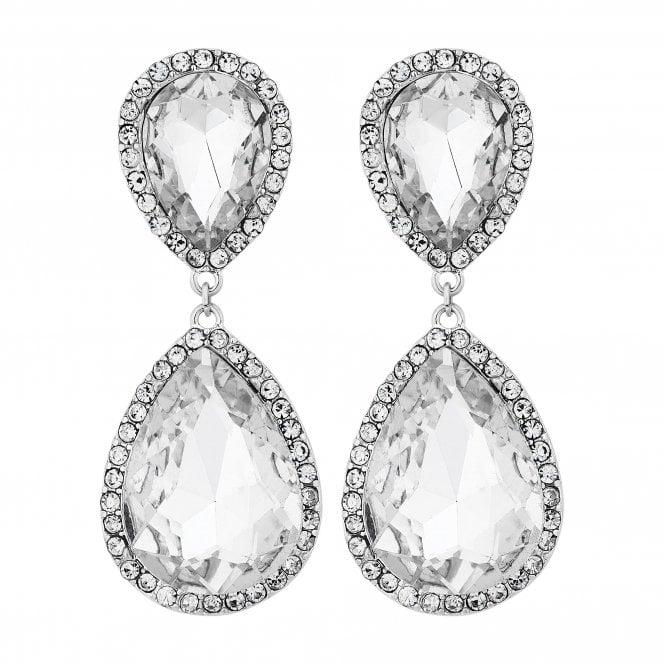 Silver Oversized Peardrop Drop Earring