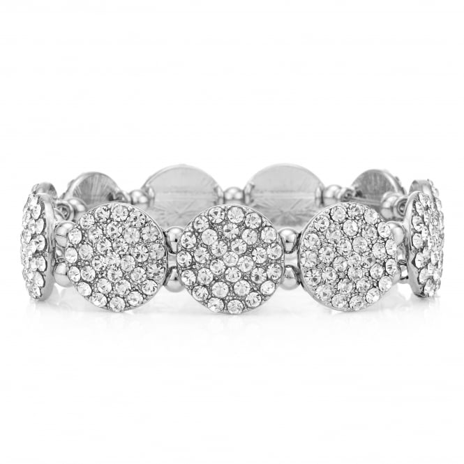 MOOD By Jon Richard Silver pave disc bracelet