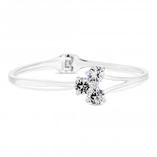 Silver Triple Cubic Zirconia Bangle