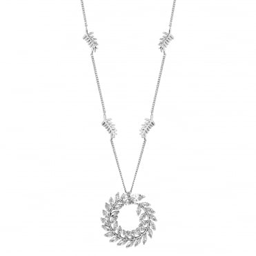 Silver wreath necklace