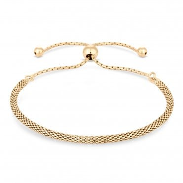 f14154e20d367 12ct Yellow Gold Plated Sterling Silver 925 Popcorn Toggle Bracelet