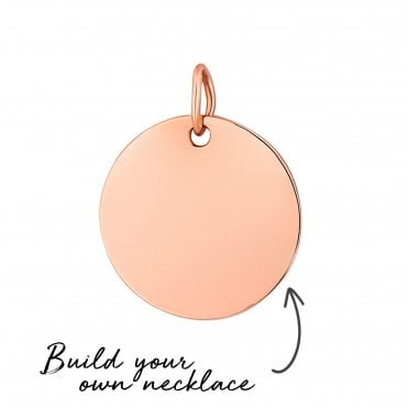8df574c9f87ec 14ct Rose Gold Plated Sterling Silver 925 Disc Pendant- Build Your Own